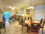 Living Room/Dining Area at Crystal Shores Unit 607